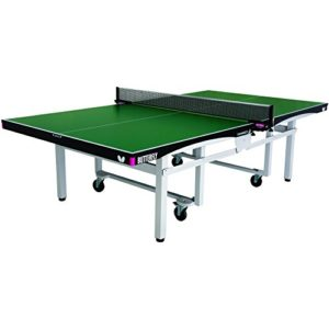 Butterfly Centrefold 25 Table Tennis Table - 1 Inch Top - ITTF Approved - Foldable Rollaway - Professional Ping Pong Table