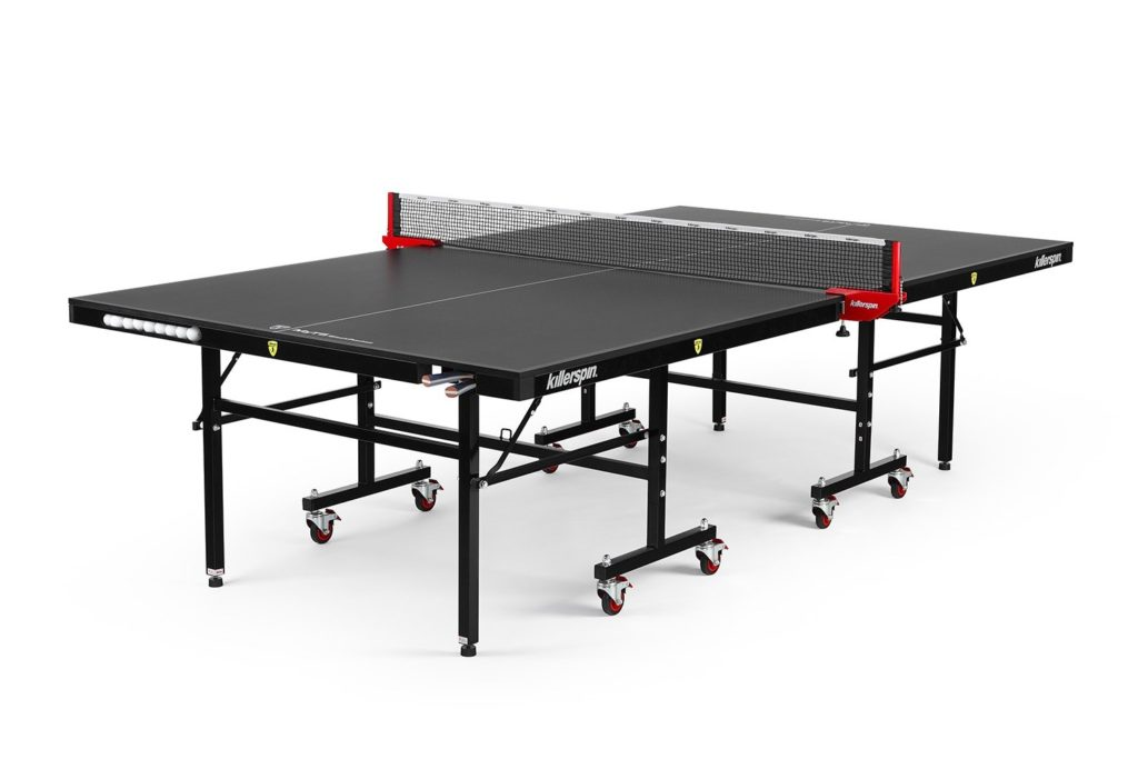Killerpin MyT5BlackPocket Table Tennis Table - Premium Pocket Designed Ping Pong Table with Thick Durable Frame and Table Top That Stands Up To Hard Use
